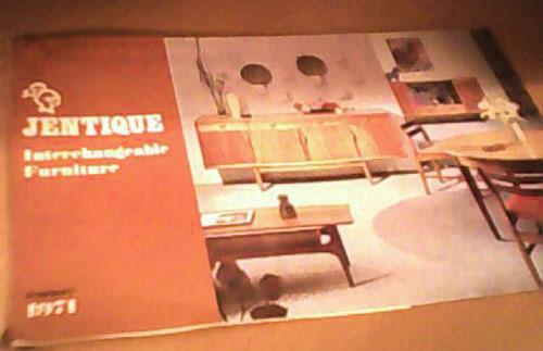Catalogo de mobiliario Jentique de los años 60
